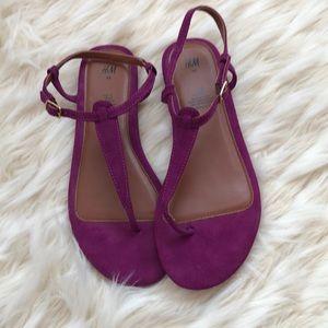 NWOT h&m fuchsia sandals